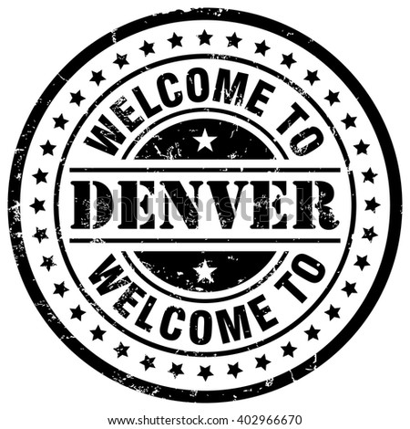 welcome to denver - stock vector