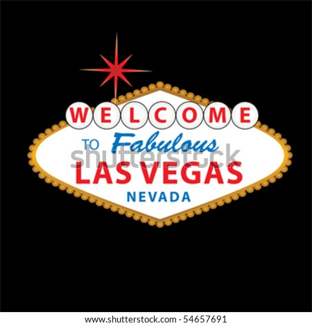 Welcome to Fabulous Las Vegas Nevada sign - stock vector