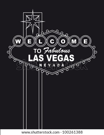 welcome  to fabulous las vegas nevada sign. vector illustration - stock vector
