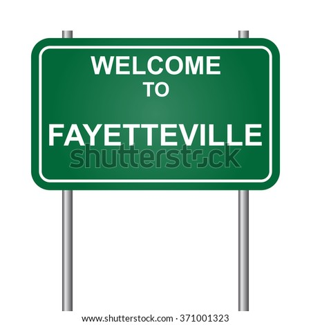 Welcome to Fayetteville, green signal vector