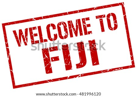 welcome to Fiji stamp. Fiji grunge vintage isolated square stamp. welcome to Fiji.