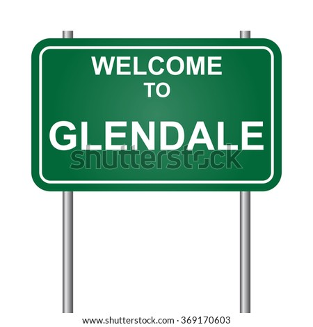 Welcome to Glendale, green signal vector
