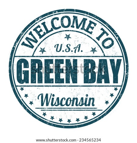 Welcome to Green Bay grunge rubber stamp on white background, vector illustration