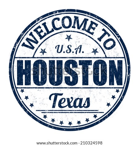 Welcome to Houston grunge rubber stamp on white background, vector illustration - stock vector