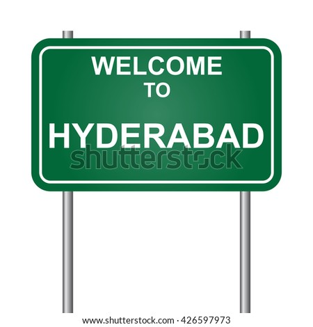 Welcome to Hyderabad, green signal vector