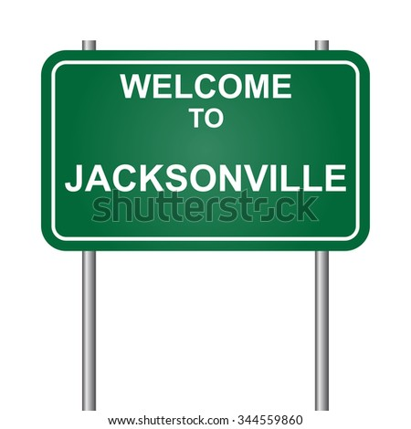 Welcome to Jacksonville vector