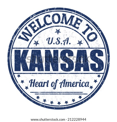 Welcome to Kansas grunge rubber stamp on white background, vector illustration