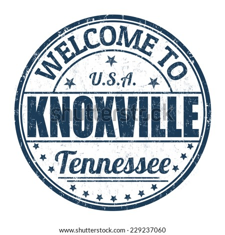 Welcome to Knoxville grunge rubber stamp on white background, vector illustration - stock vector