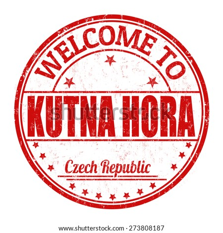 Welcome to Kutna Hora grunge rubber stamp on white background, vector illustration