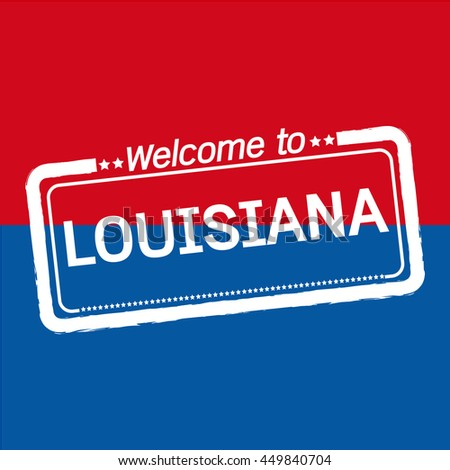 Welcome to LOUISIANA of US State illustration design