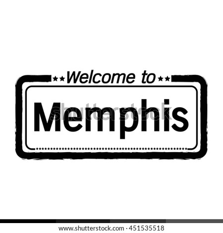 Welcome to Memphis City illustration design