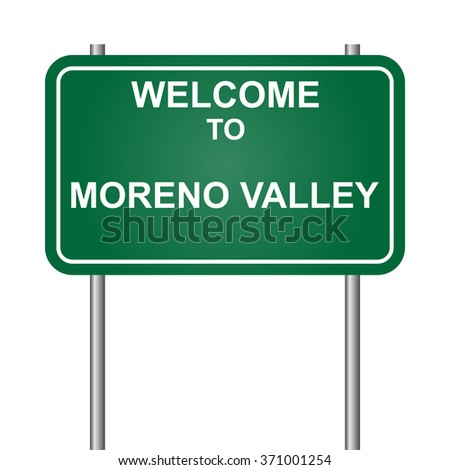 Welcome to Moreno Valley, green signal vector