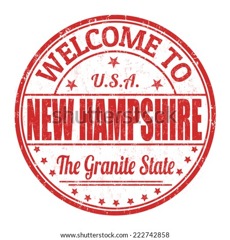 Welcome to New Hampshire grunge rubber stamp on white background, vector illustration - stock vector
