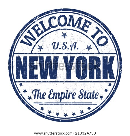 Welcome to New York grunge rubber stamp on white background, vector illustration - stock vector