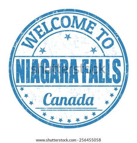 Welcome to Niagara Falls grunge rubber stamp on white background, vector illustration - stock vector