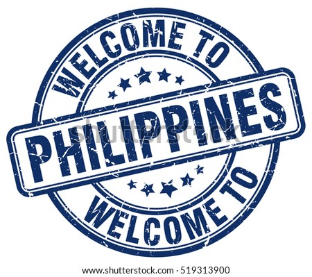 welcome to Philippines. stamp.