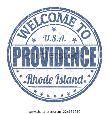 Welcome to Providence grunge rubber stamp on white background, vector illustration - stock vector