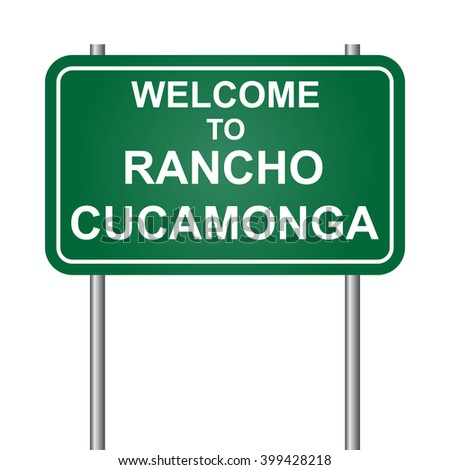 Welcome to Rancho Cucamonga, green signal vector