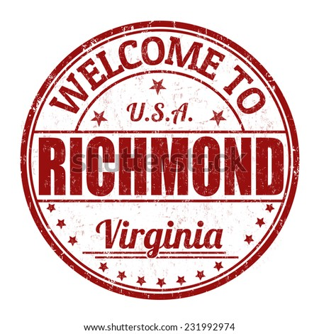 Welcome to Richmond grunge rubber stamp on white background, vector illustration - stock vector
