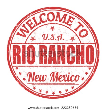 Welcome to Rio Rancho grunge rubber stamp on white background, vector illustration - stock vector