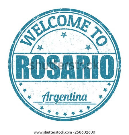 Welcome to Rosario grunge rubber stamp on white background, vector illustration