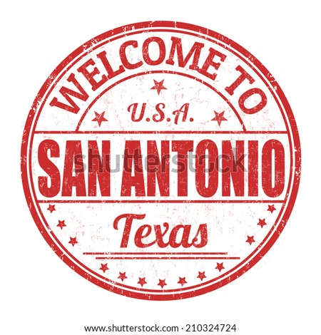 Welcome to San Antonio grunge rubber stamp on white background, vector illustration - stock vector