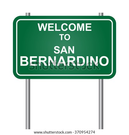 Welcome to San Bernardino, green signal vector