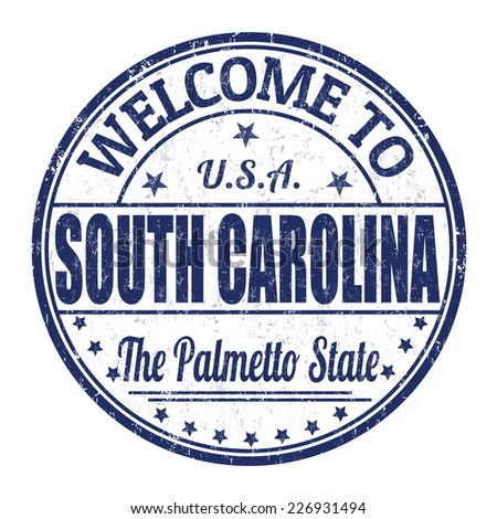 Welcome to South Carolina grunge rubber stamp on white background, vector illustration