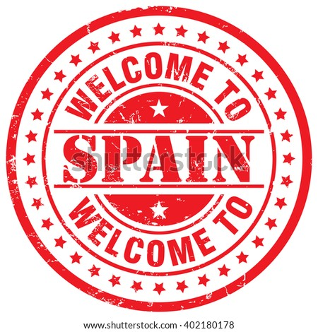 welcome to spain - stock vector