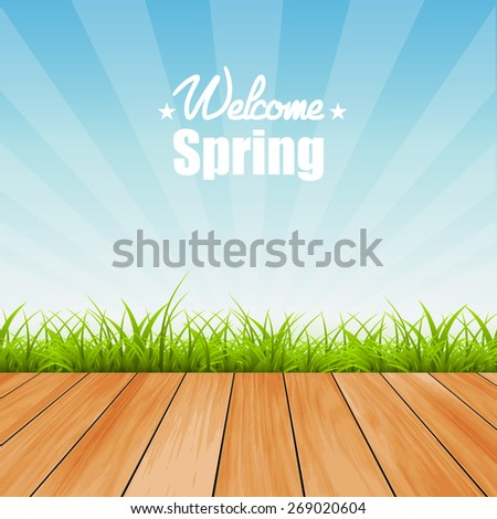 Welcome to Spring background vector illustration - stock vector