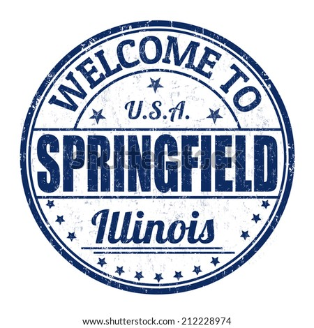 Welcome to Springfield grunge rubber stamp on white background, vector illustration - stock vector