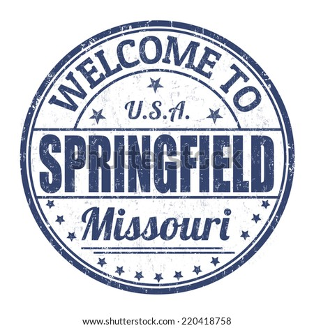 Welcome to Springfield grunge rubber stamp on white background, vector illustration