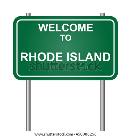 Welcome to State of Rhode Island, green signal vector