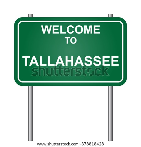 Welcome to Tallahassee, green signal vector