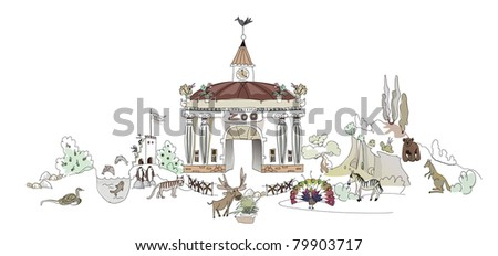 welcome to the Zoo - stock vector