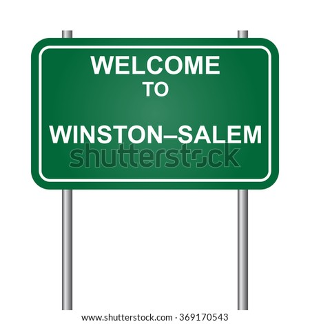 Welcome to Winston-Salem, green signal vector