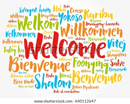 WELCOME Word Cloud In Different Languages Concept Background