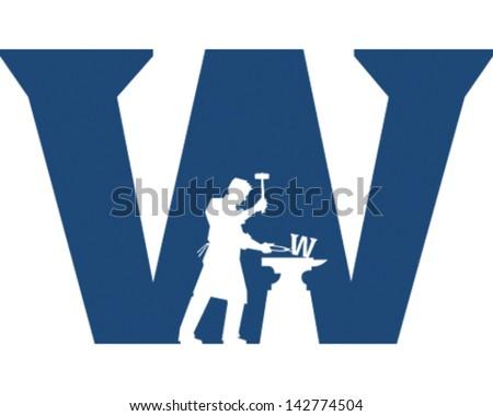Welder - stock vector