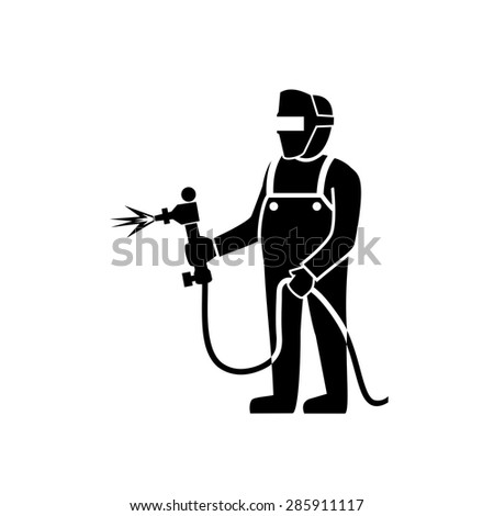Welder icon vector