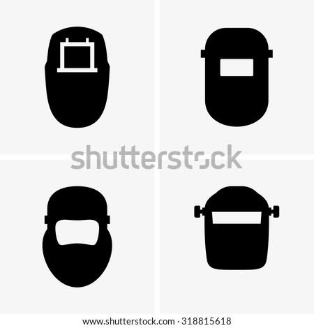 Welding masks - stock vector