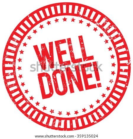 well done stamp - stock vector