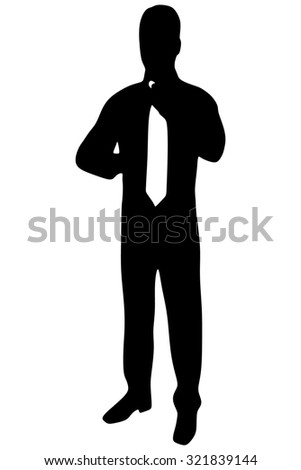 Well dressed male fixing his suite - stock vector