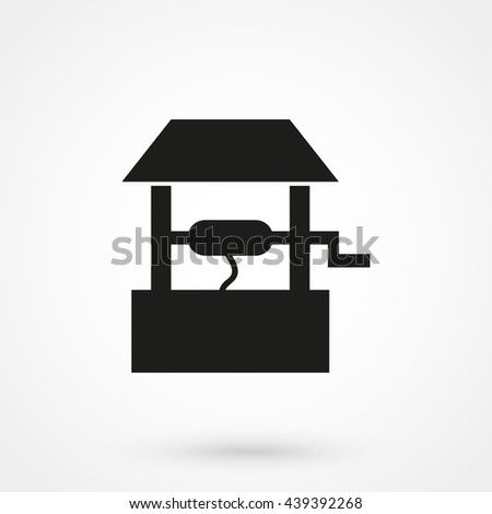 well icon isolated on background. Modern flat pictogram, business, marketing, internet concept. Trendy Simple vector symbol for web site design or button to mobile app. Logo illustration - stock vector