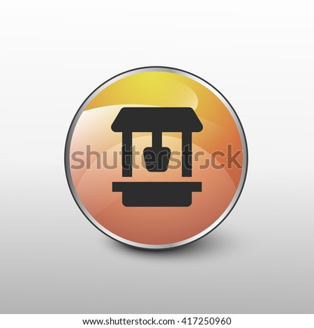 well icon. well sign - stock vector