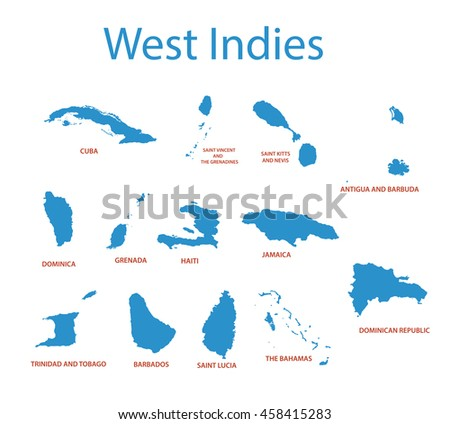 West Indies Vector Maps Countries Stock Vector - Grenada maps with countries