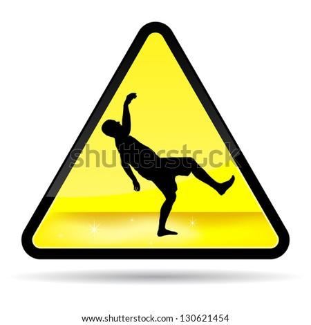 Wet Floor Sign. - stock vector