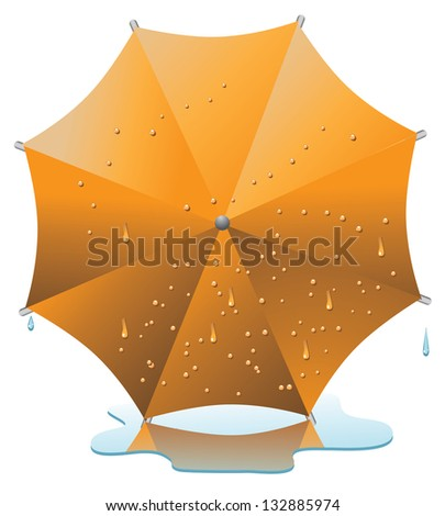 Wet Umbrella. EPS 8 vector, grouped for easy editing. No open shapes or paths. - stock vector