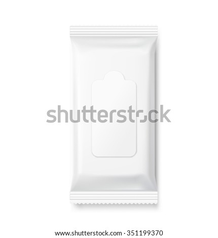 Wet wipes package isolated on white background. Can be use for your design, promo, adv and etc. - stock vector