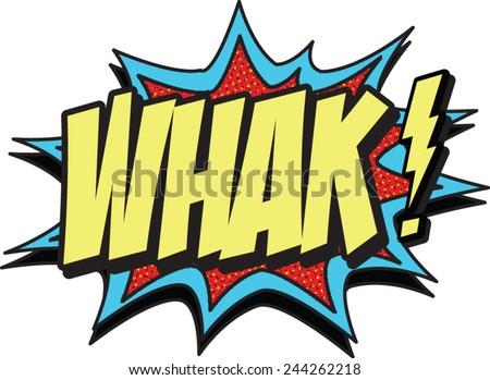 whak - stock vector