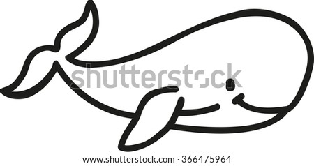 Whale cartoon contour